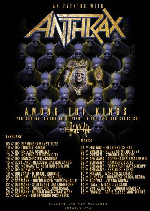 Flyer zur Anthrax-Tour